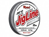 Шнур JigLine Winter 0,16 мм, 12 кг, 25 м, серый